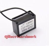 5pcs CBB61 2.5UF 450V Ceiling Fan Capacitor start capacitor