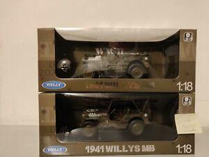 Welly  Konvolut 1:18  2 x Jeep Willys 1x Open 1x Hardtop U.S. Army
