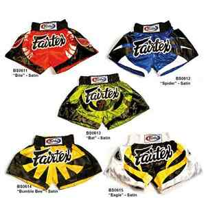 SHORTS FAIRTEX BS1701 MUAY THAI FIGHT MMA KICK BOXING YELLOW ADULT XL SATIN
