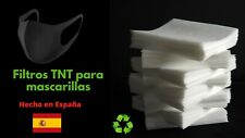 20 filtros TNT para 1Mascarillas de Tela 100%Polipropileno