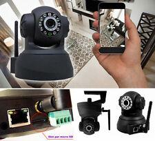 IP Camera telecamera WIFI registra su micro SD.DVR infrarossi,colori,motorizzata