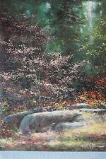 Fleurs de rose-James Coleman imprimer -61 x91cm, forêt vintage poster