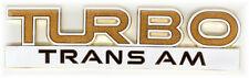 NEW 89 Pontiac Turbo Trans Am Fender Emblem Pair (2)