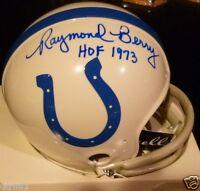 RAYMOND BERRY Signed autograph NFL Riddell Baltimore Colts Mini Helmet COA Auto