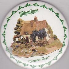 "VINTAGE 3"" PINBACK #18-015 -  COLLECTIBLES - LILLIPUT LANE - SUMMER DAY"