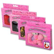 Manette rivestite in peluche colori disponibili rosso nero bianco rosa
