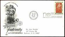 Nazioni Unite NY 1967 fraternità FDC primo giorno copertura #C 35953