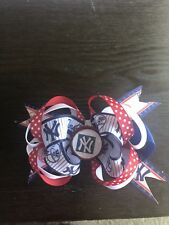 Girl's Hair Boutique Bow Mlb Ny New York Yankees