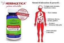 Parassiti vermi intestinali antiparassitario pulizia intestinale Vegan 60 caps