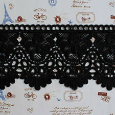 1yd Black Guipure Lace Trim Fabric Skirt Hem Decoration Bridal Sewing DIY Craft