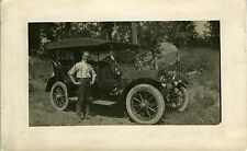 RA991 Early RP POSTCARD Cadillac Vintage Car - Probably at Ramapo, New York City