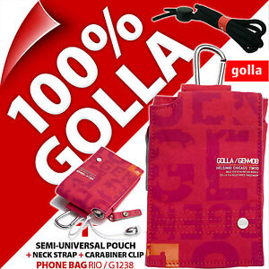 Golla Pink Phone Case Pouch Bag for iPhone 4S 5S SE Samsung Galaxy S2, S4 Mini