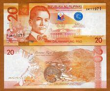 Philippines, 20 Piso, 2015, Pick 206-New, UNC