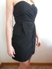 Abito vestito donna ragazza H&M tg S /40it tubino elegante con fiocco nero corto