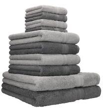 Betz 10er Handtuch Set GOLD 2 Duschtücher 4 Handtücher 4 Seiftücher grau