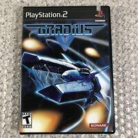 Gradius V (Sony PlayStation 2, 2004) PS2 Konami Shooter Complete w/Manual CIB