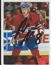 Mike Komisarek Signed 2003/04 Upper Deck Card #102