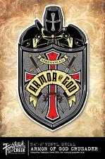 Jesus Decal - Christ - God - Christian - Crusader - Armor of God Crusader Decal
