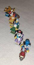 Hallmark 1998 Disney Mickey Mouse Express Miniature Train Ornaments Set of 5 Euc