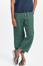 FLAX Designs  Linen Pants   S & M     NWT  FLoods  Pants  FOREST RAW LINEN