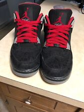 Air Jordan Force 4 (AJF 4) - Size 10.5 (Men's) - Black/Varsity Red-Stealth