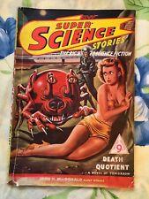 Super Science Stories No 1 1949 Vintage Pulp Sci Fi Magazine