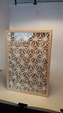 Modern wall art 3D shadow box wall decor photo wooden framed with organic glass