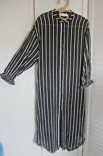 Worn Once-ZIMMERMANN-Black/White Stripe Cotton Maxi Dress - Sz 3