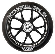 Slamm - 110mm V-Ten II Wheels - Black- Scooter Wheels ***One Wheel***