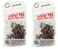 "WAR TEC 16"" Chainsaw Chain  Pack Of 2 Fits BOSCH AKE40 AKE40S"