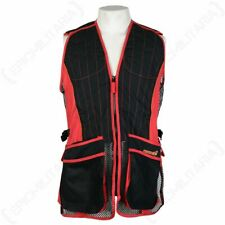 Skeet Shooting Vest Evo - Red - Hunting Outdoors Hiking Jacket Top Clay Pigeon