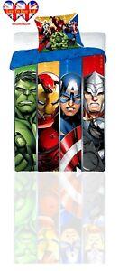 Avenger Marvel Duvet Set,Single Duvet Cover&Pillowcase,Official Licensed
