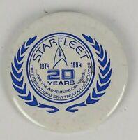 Vintage Star Trek The International Fan Association Button Pin Badge Collectible