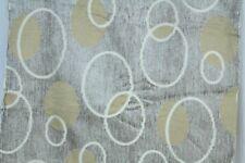 "VTG Geometric MCM Circles Tan Chenille Fabric Remnant 40 "" x 56"""