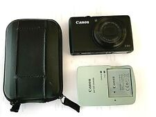 Black Canon Powershot S95 PC1565 10MP Battery Charger w/Leather Case