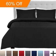Luxury 1800 Series Double Brushed Ultra-Soft Duvet Cover Set for Comforter