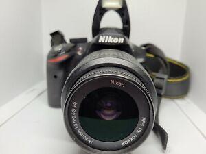 Nikon D3200 Digital SLR Camera 24.2MP w/ 18-55mm VR Lens with battery