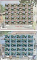 French Polynesia 2015 Tropical Architecture Set/2 Sheets of 25 Stamps Sc.1152/53