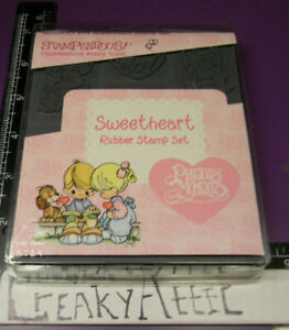 PRECIOUS MOMENTS SWEETHEART ICE CREAM 6 FOAM RUBBER STAMPS STAMPENDOUS HTF CREAK