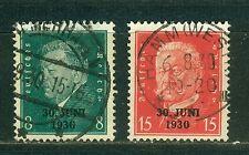 Deutsches Reich 444 - 445 , ** , * ,  o , - Abzug der Alliierten