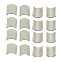 16 Pieces Handlebar Mounts Risers Clamps Spacers Shims 22mm to 25mm