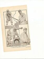 A's 1912 Team Picture Ira Thomas Eddie Collins Rube Oldring Jack Barry Strunk A