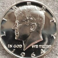 1 face dollar 1964 Kennedy Proof 90 percent silver coins 2 half dollars