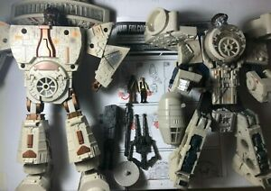 Star Wars Transformers Millennium Falcon Ship Han Solo ChewBacca w/ mini figures