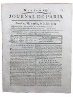 États Généraux 1789 Saint Médard Paris Assurances Vie Rare Journal de Paris
