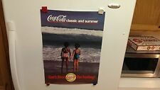 1989 COCA-COLA CLASSIC AND SUMMER CAN'T BEAT THE FEELING POSTER ''16x22'' RARE