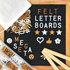 """700+ Changeable Felt Letter Board MEGA SET White & Gold Letters 10""""x10"""""""