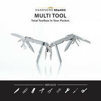 Handsome Man Brands Stainless Steel Multi Tool / Knife [Equipped w 12 Tools]