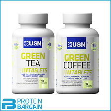 USN Green Tea + Green Coffee Tablets = 180 Tablets Weight Loss Fat Burner Lose
