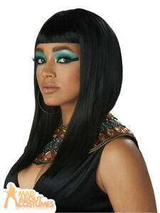 Ladies Cleopatra Egyptian Angular Cut Wig Queen of Nile Fancy Dress Accessory